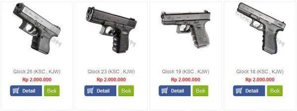 jual airsoft gun glock murah blowback