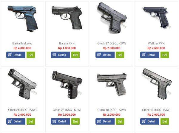 daftar harga airsoft gun murah