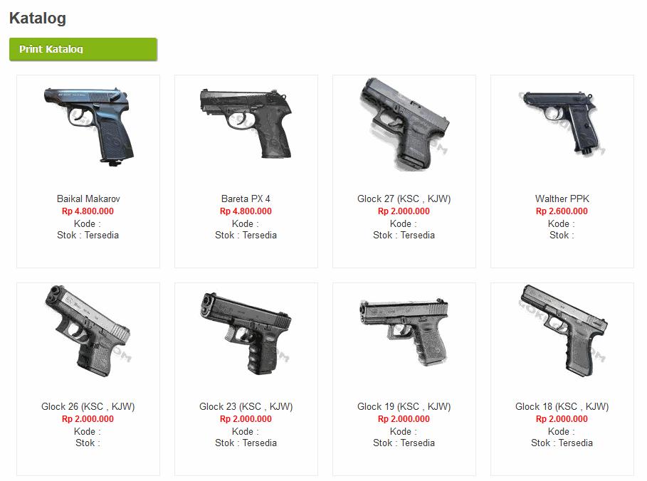 Katalog Harga Airsoft Gun Di Bandung